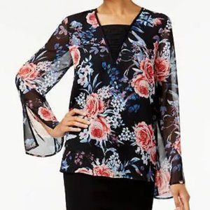 Love Scarlett NWT Floral Lace Insert Tunic Top XL